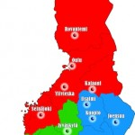 Map of TaigaMets Tribes in Finland