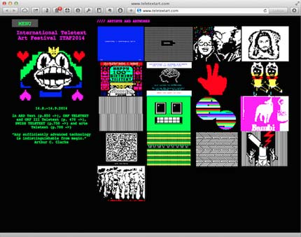 Teletext Art Website