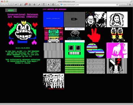 Teletext Art Website